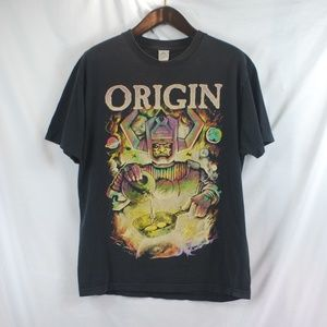 Origin | Faded Black Hail Space Band Tee size L